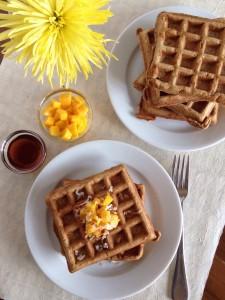 Vanilla Coconut Whole Wheat Waffles - Sara Haas, RDN, LDN