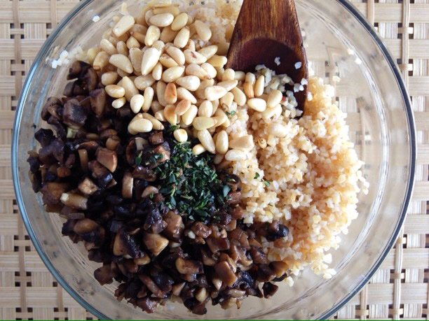 Sautéed Mushrooms with Thyme and Bulgur - Sara Haas, RDN, LDN