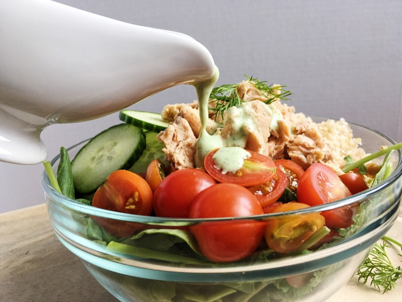 Canned Salmon Bowl