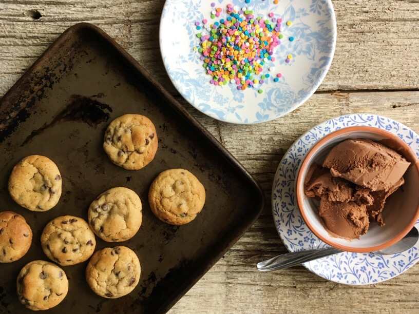 Ice Cream Cookie Sandwich Bites