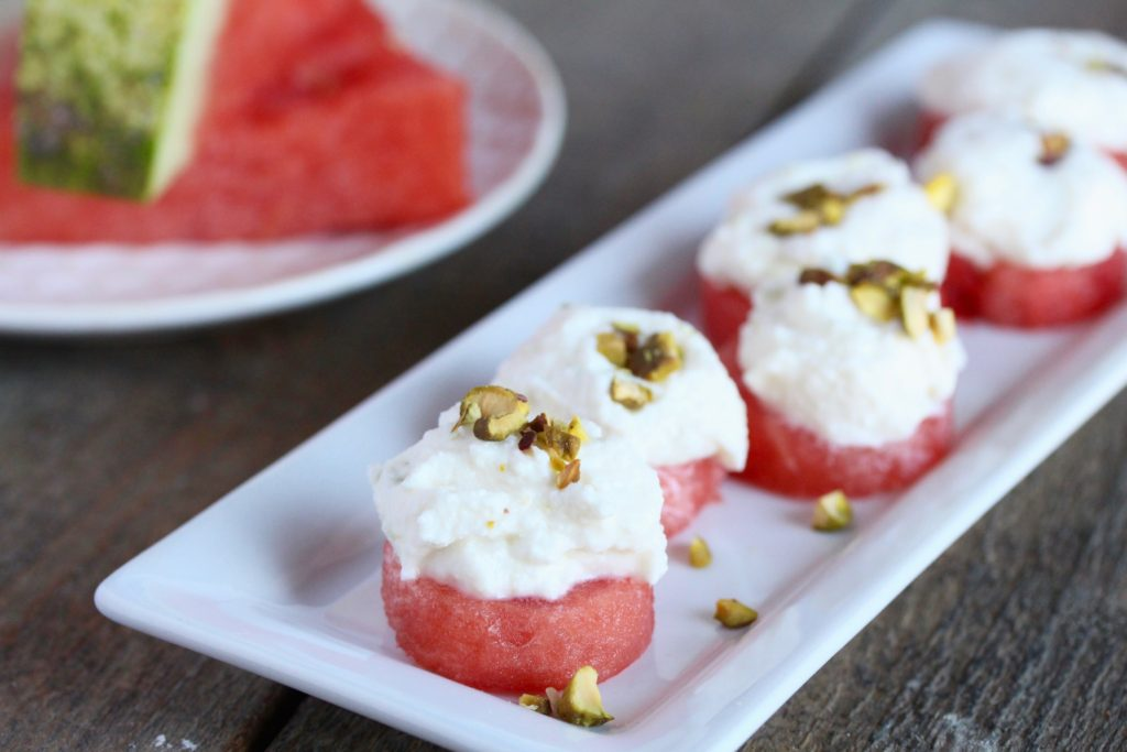 Watermelon with Honey-Lime Ricotta