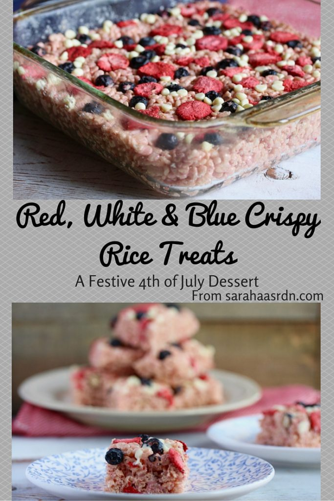 Red, White & Blue Crispy Rice Treats