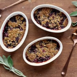 Cherry Crumble with Sage and Brown Sugar