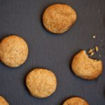 Two Bite Snickerdoodles! - Just the right size and made with whole grain flour and less sugar than regular snickerdoodles. Recipe from @cookinRD - www.sarahaasrdn.com
