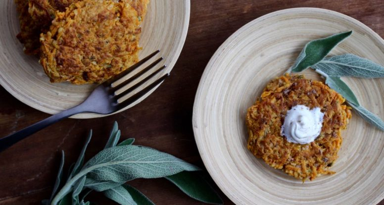 Butternut Squash Rosti make the perfect side dish to any meal! Recipe from @cookinRD - www.sarahaasrdn.com