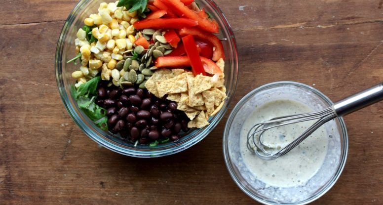 Easy Southwest Buddha Bowl - A quick, vegetarian and gluten free meal that satisfies! @cookinRD | sarahaasrdn.com