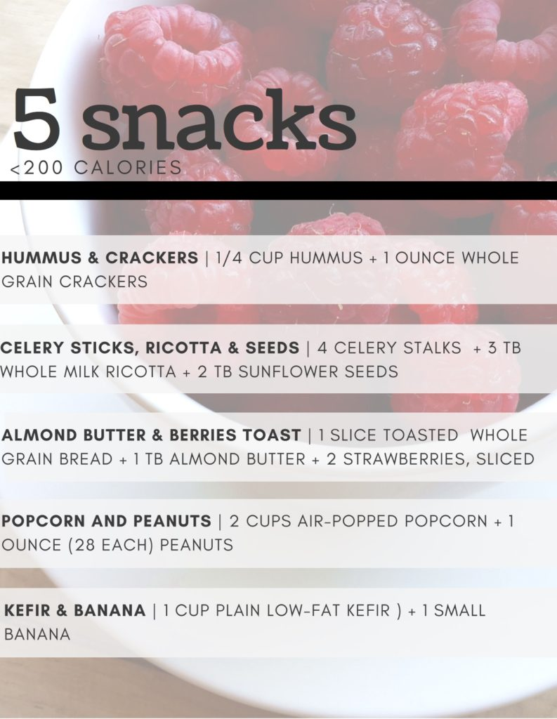 Sensible snacking can happen! All month you can learn 20 of my favorite snacks, all around 200 calories! @cookinRD | sarahaasrdn.com