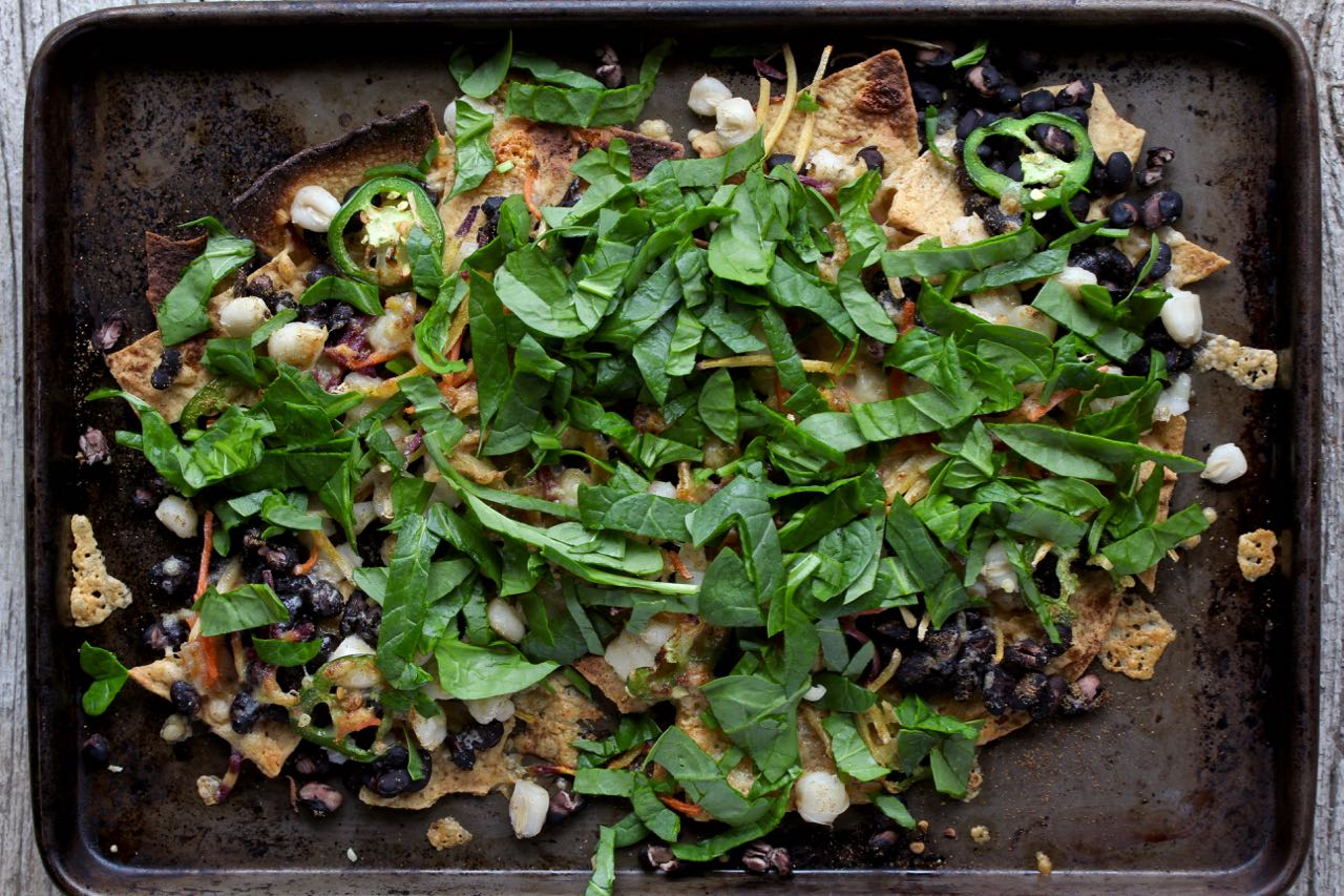 Make these Veggie Loaded Nachos your favorite, nourishing go-to meal! @cookinRD | sarahaasrdn.com
