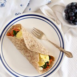 Spinach Egg Breakfast Wrap