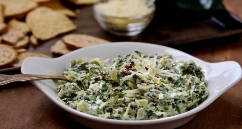 Why not add a poblano to that spinach artichoke dip! Make a double batch, because this one goes quick! @cookinrd | sarahaasrdn.com