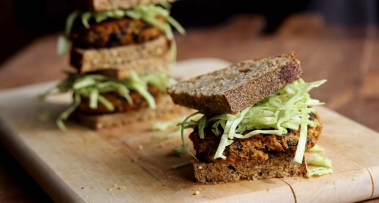 Build a better veggie burger with these simple Chipotle Pumpkin Black Bean Burgers! @cookinRD | sarahaasrdn.com