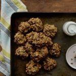 Banana Oat Breakfast Cookies - Find yourself running out the door with breakfast? Not anymore with these super easy, delicious and nourishing Banana Oat Breakfast cookies! @cookinRD | sarahaasrdn.com