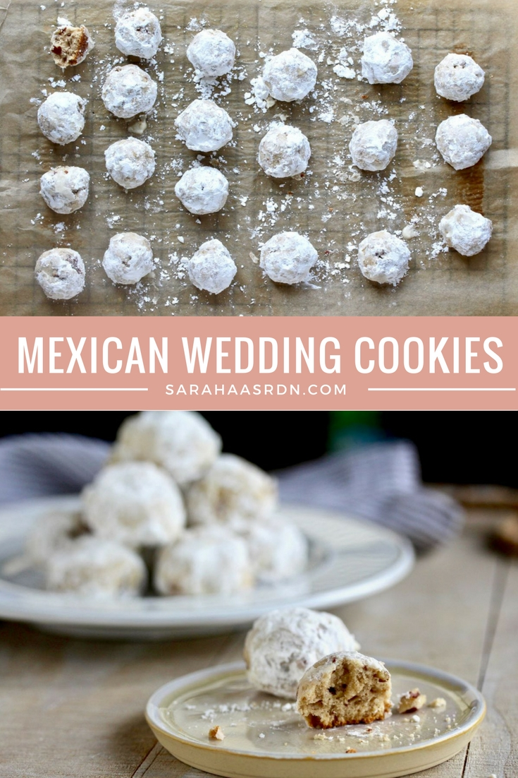 A tribute to my beautiful mother and grandmother! These little Mexican Wedding Cookies are tiny, but mighty in terms of deliciousness! @cookinRD | sarahaasrdn.com