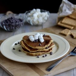Super Easy Graham Cracker Pancakes