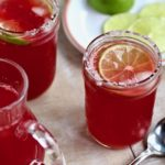 Looking for the perfect beverage to go with that taco? I've got it! This Sparkling Pomegranate Margarita is delightful with or without the alcohol! @cookinRD | sarahaasrdn.com