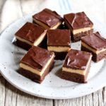 Have you ever had a buckeye brownie? If not, I'm about to change your world! Chocolate meets peanut butter in an oh so yummy way! Get the recipe now! @cookinRD | sarahaasrdn.com