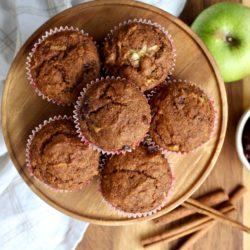 Applesauce Cranberry Muffins