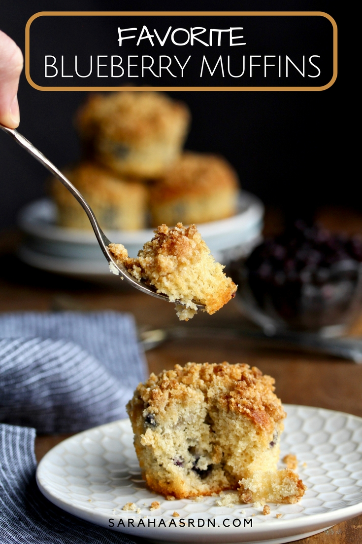 Craving an excellent blueberry muffin? Well, then you'll love these delightful muffins made with big blueberry flavor! @cookinRD   sarahaasrdn.co