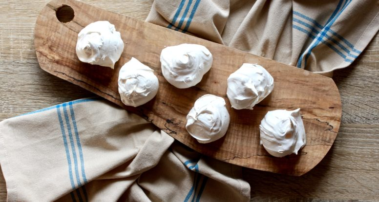 Intimidated by egg whites and whisking them? Don't be! I'll show you how easy it is to whisk them to perfection to create these lovely Meringue Cookies! @cookinRD | sarahaasrdn.com