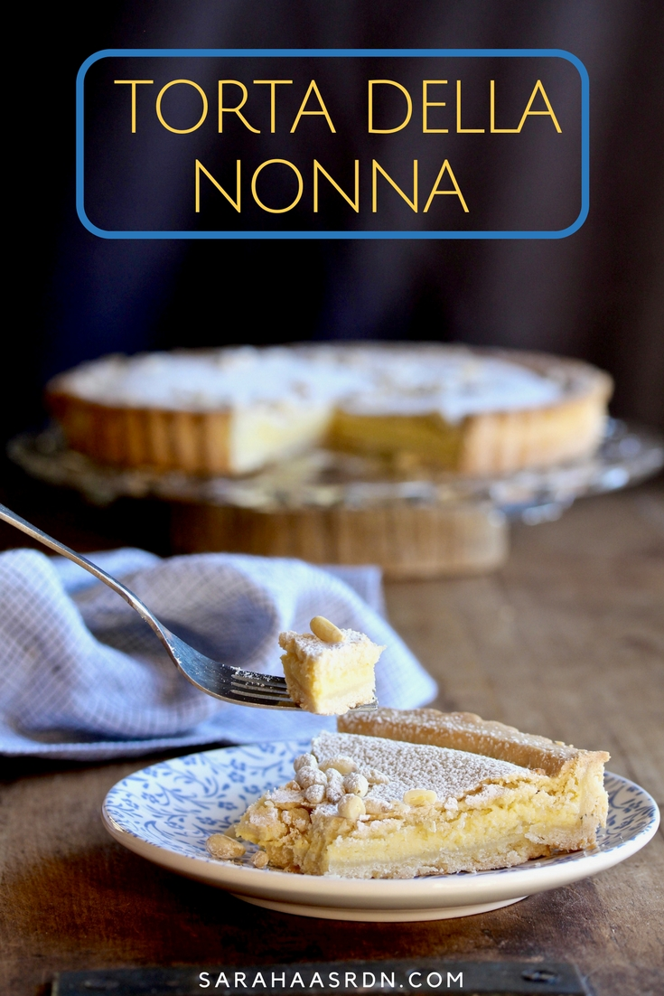 A big salute to my final Top Chef Instagram Stories Series. I make a Joe Flamm-inspired torta della nonna! Get the recipe for this yummy dessert now! @cookinRD | sarahaasrdn.com