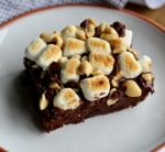 A good old brownie is good, but a Rocky Road Brownie is even better! Learn how to make them! @cookinRD | sarahaasrdn.com
