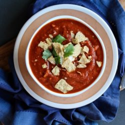 Chile Chicken Tortilla Soup