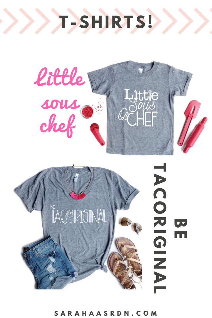 Order now! Be Tacoriginal and little sous chef t-shirts.