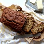 Banana bread gets a nourishing boost with oats and flax seed! This Chocolate Oat Banana Bread makes for an awesome snack or breakfast! @cookinRD | sarahaasrdn.com