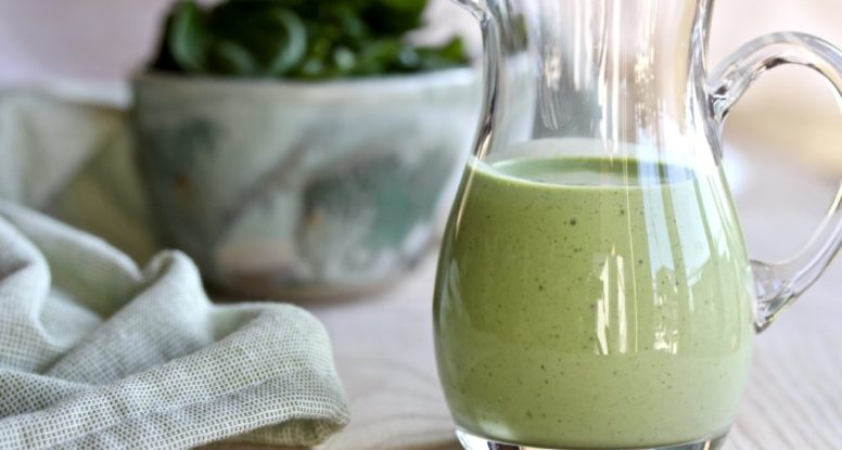 The bottled stuff is good, but homemade is so much! Learn how easy it is to make your own healthyish Green Goddess Dressing!