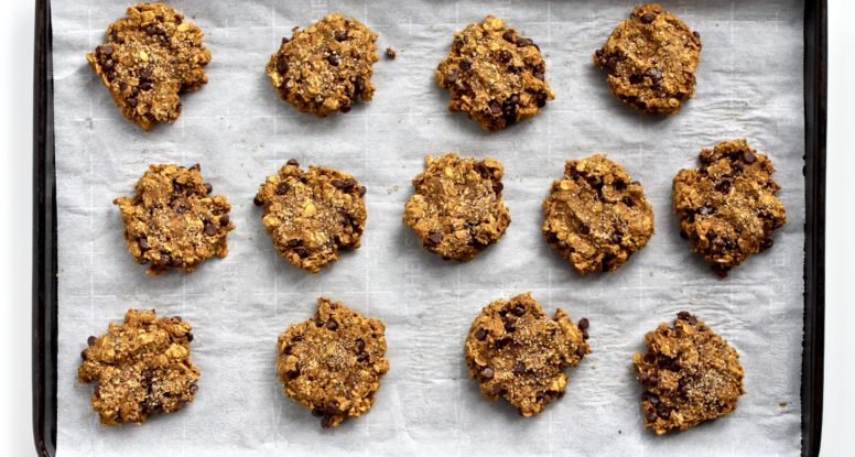 Be a breakfast champion with these delicious Pumpkin Breakfast Cookies! @cookinRD | sarahaasrdn.com