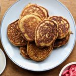 Add a touch of natural sweetness to your pancakes with pistachios and freeze dried strawberries! @cookinRD/sarahaasrdn.com