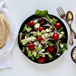Delicious Greek Salad Pitas