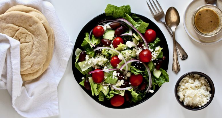 Turn your favorite salad into your new favorite sandwich! You'll love these Greek Salad Pitas!