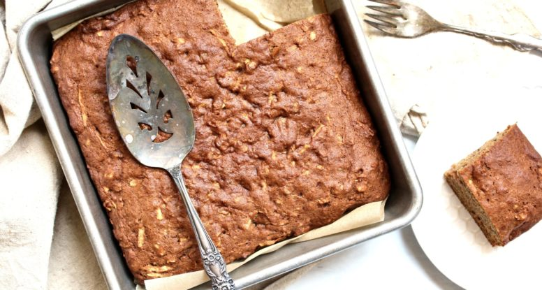 This Apple Walnut Snack Cake will soon become a family favorite! @cookinRD