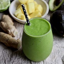 Ginger Pineapple Green Smoothie