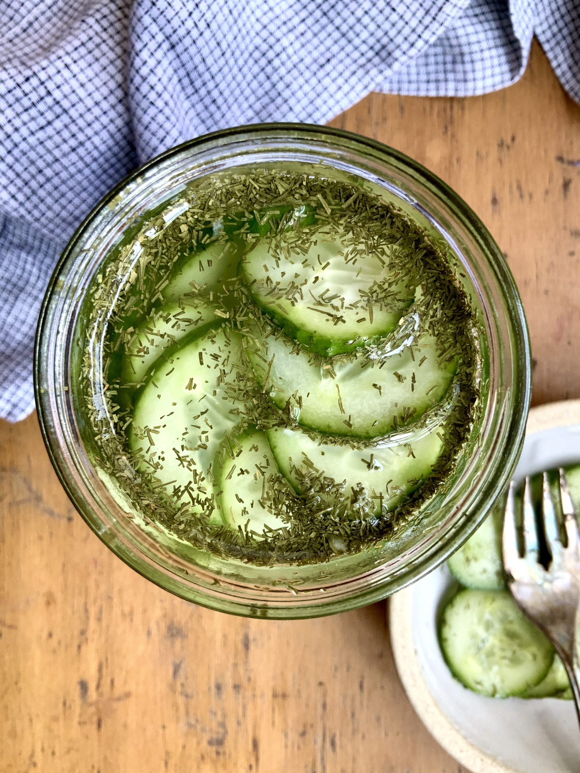 Quick Refrigerator Pickles | sarahaasrd.com