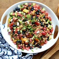 Summer Grain Salad with Watermelon Vinaigrette