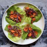 Ginger Pork Lettuce Wraps | sarahaasrdn.com