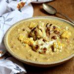Roasted Corn & Cauliflower Chowder | sarahaasrdn.com