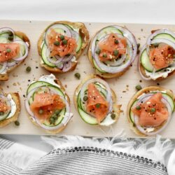 Everything Bagel Smoked Salmon Toasts