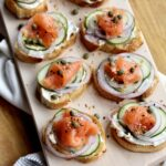 Everything Bagel Smoked Salmon Toasts | sarahaasrdn.com