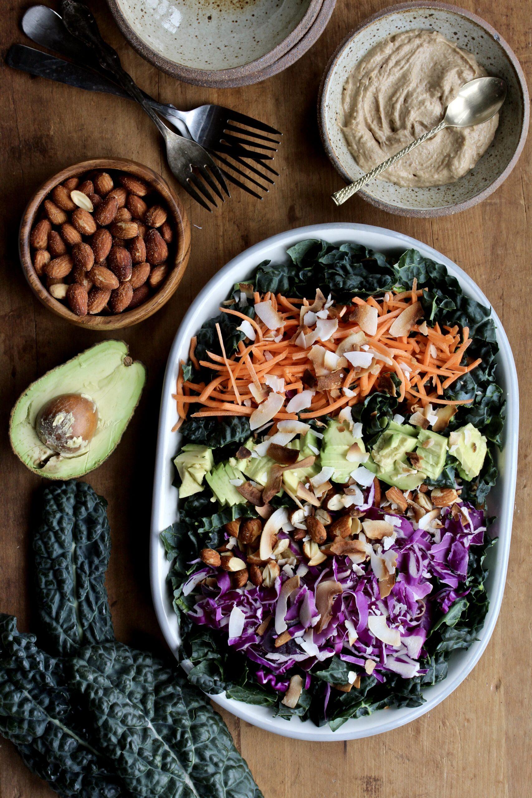 Crunchy Coconut Kale Salad | sarahaasrdn.com