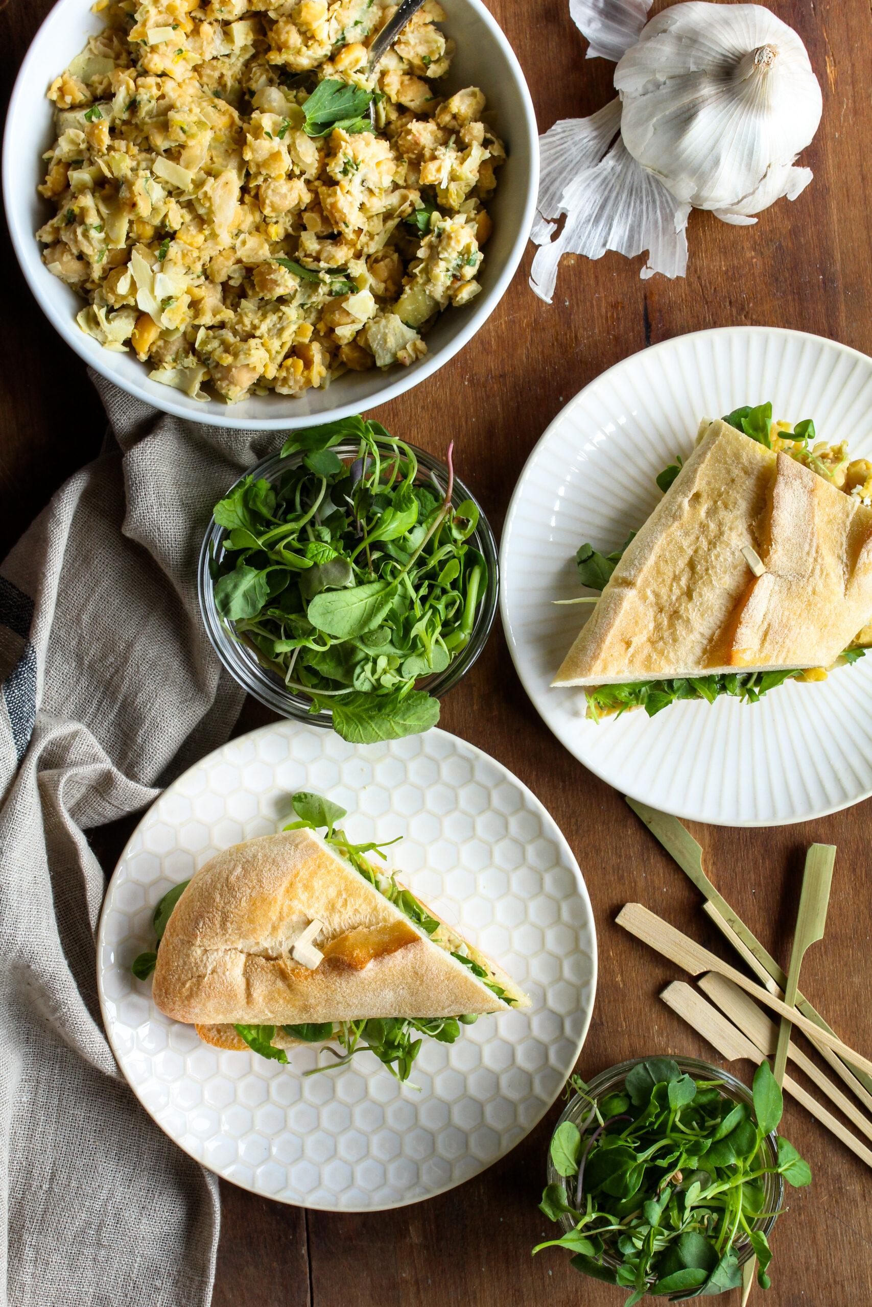 Chickpea Artichoke Salad | sarahaasrdn.com