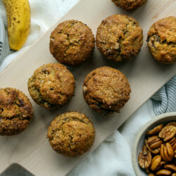 Banana Pecan Chocolate Chip Muffins