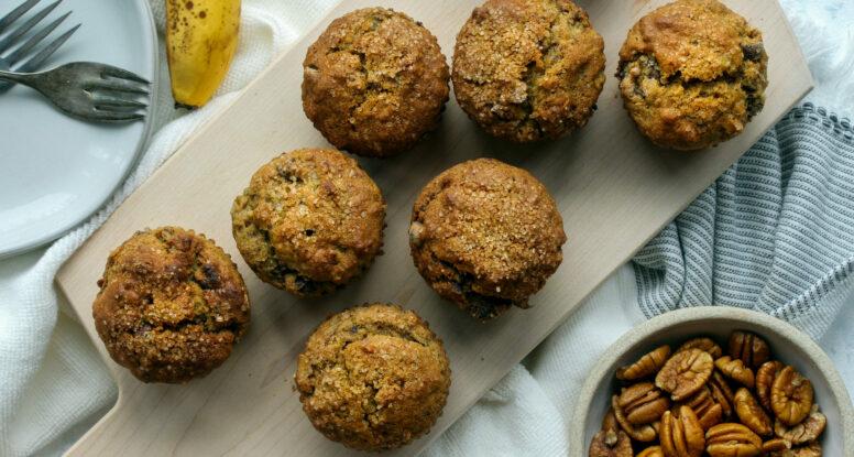 Banana Pecan Chocolate Chip Muffins | sarahaasrdn.com