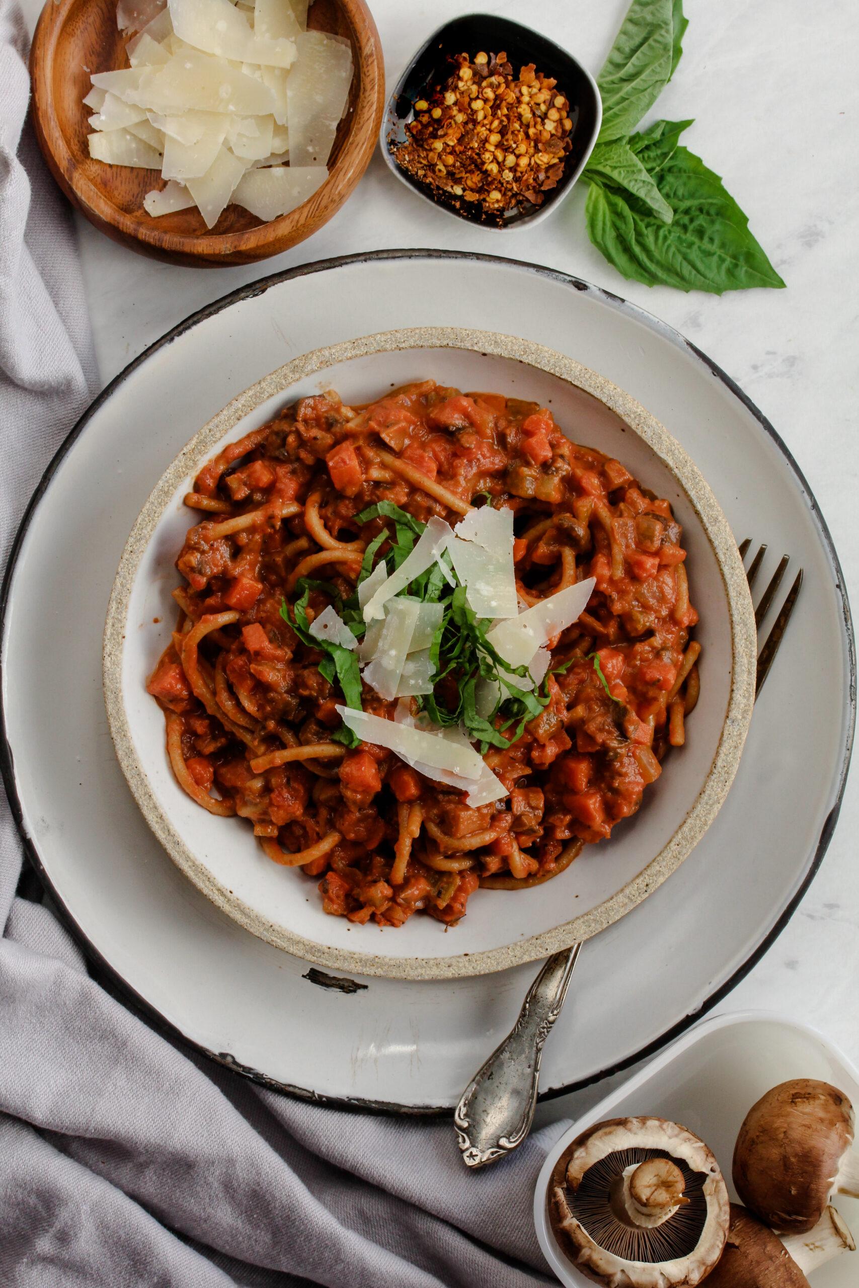 Mushroom Bolognese | sarahaasrdn.com