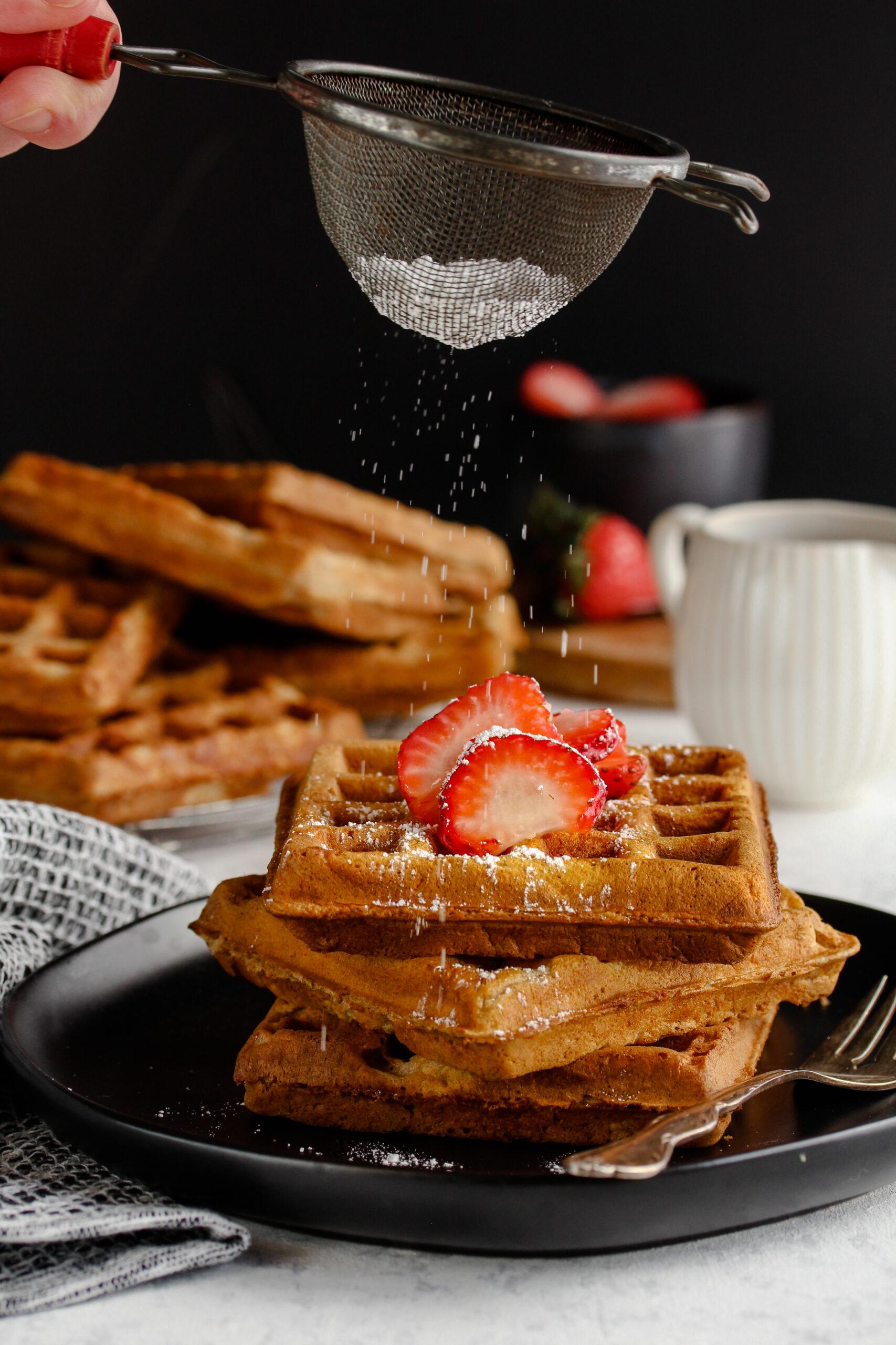 Buttermilk Whole Wheat Waffles | sarahaasrdn.com