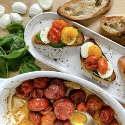 Slow Roasted Tomatoes Toast